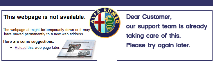 courtesypage website alfaromeo